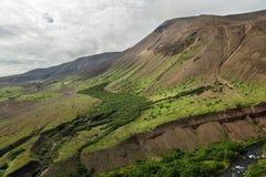 Caldera volcano Ksudach. South Kamchatka Nature Park. Stock Photo