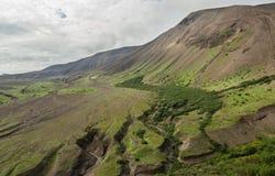 Caldera volcano Ksudach. South Kamchatka Nature Park. Stock Photos