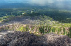 Caldera volcano Maly Semyachik. Kronotsky Nature Reserve on Kamchatka Peninsula. Royalty Free Stock Photo