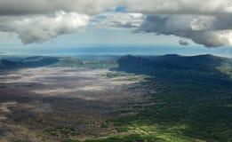 Caldera volcano Maly Semyachik. Kronotsky Nature Reserve on Kamchatka Peninsula. Stock Photos