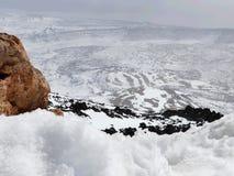 Caldera of volcano Pico del Teide, Royalty Free Stock Photography
