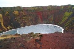 Caldera vulcanica Fotografie Stock