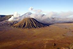 Caldera with vulcanos Stock Images