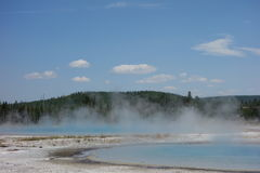 The caldera at yellowstone park Royalty Free Stock Images