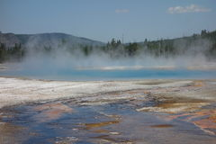 The caldera at yellowstone park Stock Photo