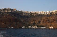calderagreece santorini Royaltyfri Fotografi