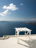 Calderamening over Santorini, Griekenland Royalty-vrije Stock Afbeeldingen
