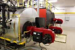 Calderas de gas en sitio de caldera de gas imagen de archivo libre de regalías