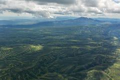 Calderavulkaan Maly Semyachik Kronotskynatuurreservaat op het Schiereiland van Kamchatka stock afbeeldingen