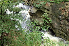 Calderone di Bodekessel preannunciato fiume Fotografia Stock