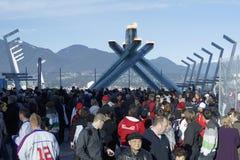 Calderone olimpico di Vancouver Immagini Stock Libere da Diritti