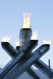 Calderone olimpico di Vancouver Immagini Stock