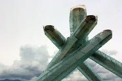 Calderone olimpico di Vancouver 2010 immagine stock libera da diritti