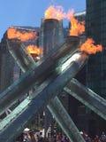 Calderone olimpico di Vancouver Fotografia Stock Libera da Diritti
