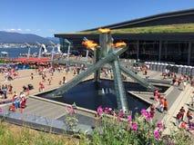 Calderone olimpico di Vancouver Immagine Stock Libera da Diritti