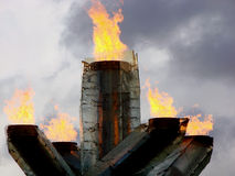 Calderone olimpico, Vancouver Fotografia Stock