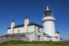 Caldey Lighthouse Royalty Free Stock Photos
