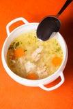 Caldo de galinha Imagem de Stock