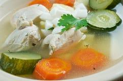 Caldo de pollo Stock Photo