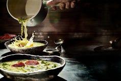 Caldo verde,典型的葡萄牙汤 免版税图库摄影