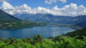 Caldonazzo湖 免版税图库摄影