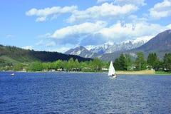 Caldonazzo lake Royalty Free Stock Images