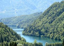 Caldonazzo lake in Trentino Stock Photos