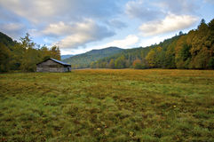 Caldwell Barn. Cataloochee Valley and Caldwell Barn in Great Smoky Mountains National Park. North Carolina, United States Royalty Free Stock Photo