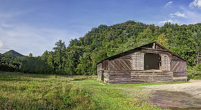 Caldwell Barn, Cataloochee Valley, Great Smoky Mountains Nationa Stock Photos