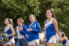 Caldwell High School Cheerleader smiles to the camera Royalty Free Stock Photography