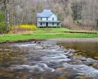 Caldwell hus, Cataloochee dal, GreatSmoky berg Arkivbilder