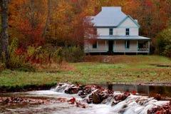 Caldwell hus i Catalochee i den Great Smoky Mountains nationalparken Fotografering för Bildbyråer