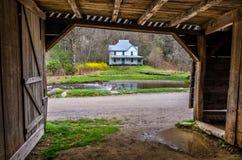 Caldwellhuis, Cataloochee-Vallei, GreatSmoky-Mou Stock Foto