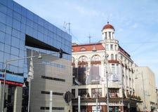 Calea Victoriei大道在中央布加勒斯特,罗马尼亚 免版税图库摄影