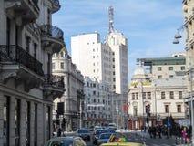 Calea Victoriei大道在中央布加勒斯特,罗马尼亚 库存图片