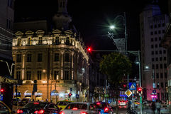 Calea Victoriei Avenue by night Royalty Free Stock Image
