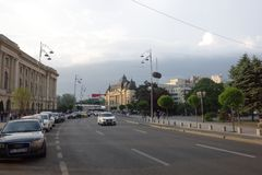 Calea Victoriei avenue in Bucharest Stock Photography