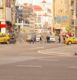 Calea Victoriei boulevard i centrala Bucharest, Rumänien Fotografering för Bildbyråer