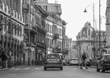 Calea Victoriei, Bucharest old architecture Royalty Free Stock Photo