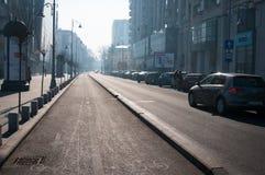 Calea Victoriei går Royaltyfri Fotografi