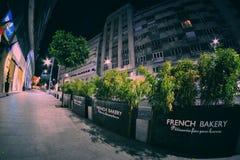 Calea Victoriei por la noche, Bucarest, Rumania Imágenes de archivo libres de regalías