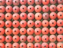 Calebasse rouge abstraite sur le mur Photographie stock libre de droits