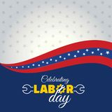 Calebrating happy labor day. For web design and application interface, also useful for infographics. Vector illustration Stock Photos