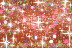 Calebration background with stars. Celebration background with bokeh and stars vector illustration