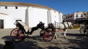 Caleche com cavalo-Ronda ANDALUSIA-SPAIN Fotografia de Stock Royalty Free