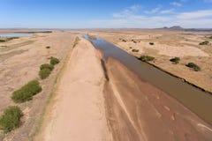 Caledon河-南非鸟瞰图  免版税库存照片