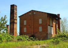 被放弃的砖工厂。Caledon,安大略,加拿大 免版税库存照片