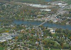 Caledonia, Ontario aerial Royalty Free Stock Photo