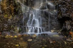 Caledonia waterfall. Is surrounded by forest in a very beautiful area with breathtaking views. The trail is 3km long and can last up to 2 hours Royalty Free Stock Images