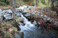 Caledonia waterfall. In Troodos Mountains Royalty Free Stock Photo